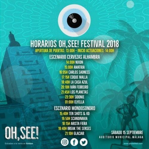 horarios oh see fest