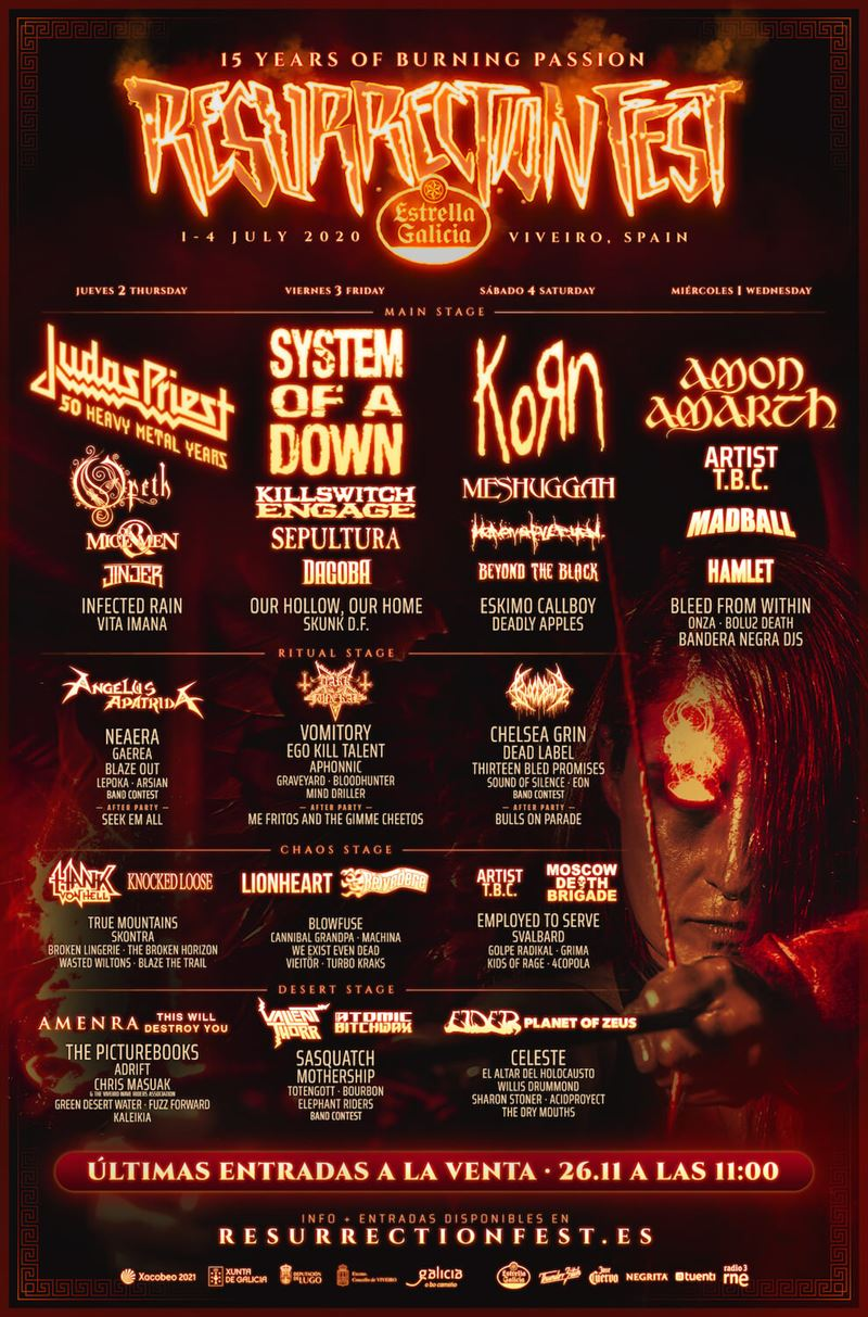 cartel días resurrection fest 2020