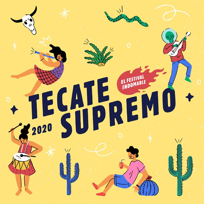 Tecate Supremo 2020 | Cartel / Boletos / Horarios