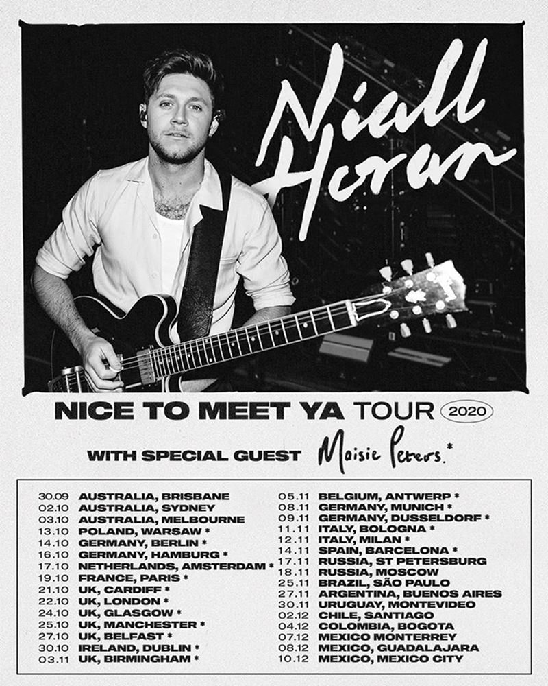 niall horan nice to meet ya world tour conciertos méxico