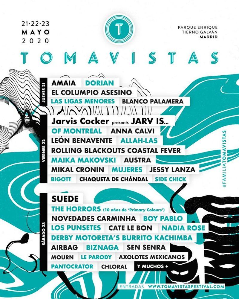 tomavistas 2020 cartel amaia anna calvi the horrors