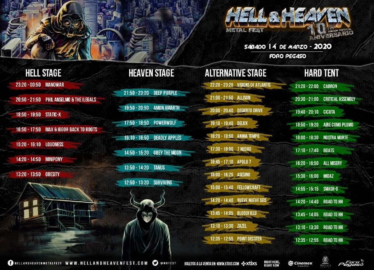 Horarios Hell and Heaven Fest 2020