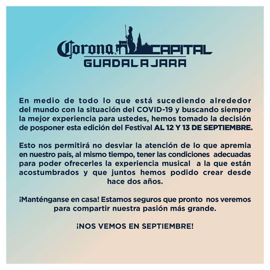 corona capital guadalajara 2020 fechas