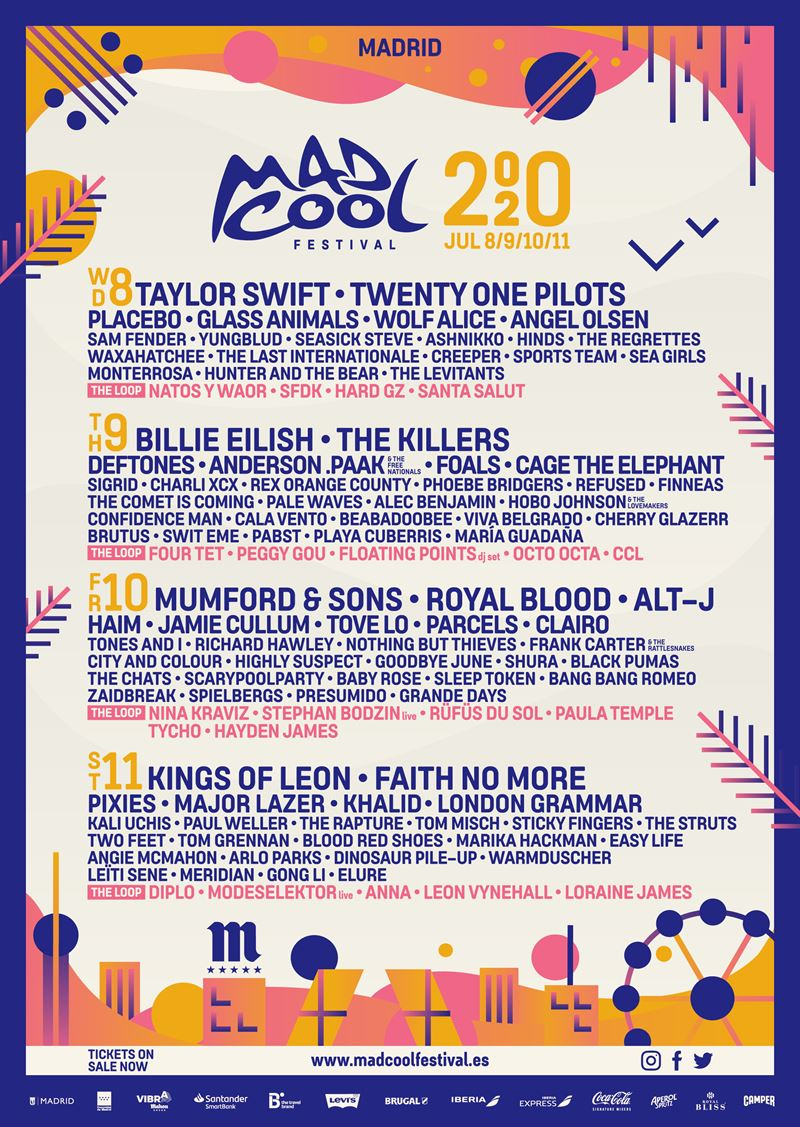 mad cool festival 2020 cartel definitivo